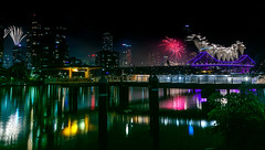 Riverfire2018 (trebandicoot (Lynn)) Tags: good use water river city skyline sky night reflections brisbaneriver queensland newfarm australia riverfire2018 fireworks nightphotography longexposure artphotography contrast storybridge bridge light colour celebration festival cityscape skyscape