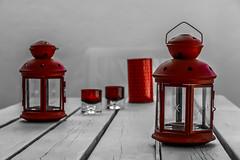 Candles and lanterns (Jose Rahona) Tags: velas linternas faroles farolillos luminarias mesa silla table chair stilllife candil candelabro chandelier