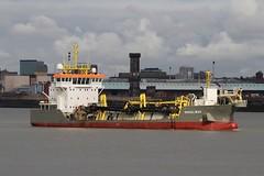 Shoalway (das boot 160) Tags: shoalway dredging dredger ships sea ship river rivermersey port docks docking dock boats boat mersey merseyshipping maritime