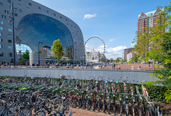 Markthal Rotterdam (FotoCorn) Tags: square arch building gartistic landmark center rotterdam ferriswheel hall people markthal iconic market city netherlands architecture bicycles innovative business blaak bicycleparking zuidholland nederland nl