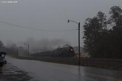 Queen's Rain (nrvtrains) Tags: 611 ferry bedford 069 blueridgedistrict norfolkandwestern rain norfolksouthern steam virginia unitedstates us