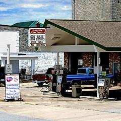 God Bless our Gas - South Carolina, USA (pom'.) Tags: panasonicdmctz101 july 2018 america northamerica usa unitedstatesofamerica southcarolina newberry newberrycounty columbia god gasstation gas