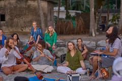 India, Vallikavu, Amritapuri, Ashram Amma beach (t66t) Tags: india vallikavu amritapuri beach musicians concert ethnic ilce6300 ashram amma voigtlander nokton