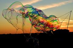 Multicolor Bubble (luporosso) Tags: bolle bolledisapone bubbles soapbubbles gioco game tramonto sunset roma italia italy colors colori multicolors