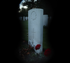 Throught the keyhole - in colour (kimberley07) Tags: brookwood woking surrey military cemetery grave autumn october remeberance