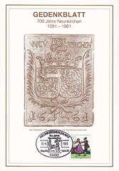 Deutsche Briefmarken (micky the pixel) Tags: briefmarke stamp ephemera deutschland bundespost gedenkblatt europamarke tracht schwarzwald ofenplatte neunkirchen saarland