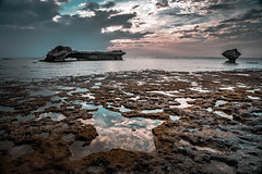 (Kay Eng) Tags: lowtide clouds sky sunset tidepools rocks ocean seascape reflection lowlight happyplanet