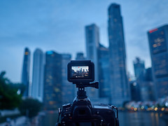 Time lapse setting (Thanathip Moolvong) Tags: timelapse patient wait blue lit flooded lighting tripod monopod
