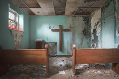 ...out of service... (Art in Entropy) Tags: abandoned urbex photography exploration urban decay creepy hospital chapel sony religious art