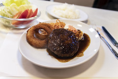 Hamburg Steak (Synghan) Tags: hamburg steak japan japanese meat beef minced dish friedonion highangle sauce delicious palatable hamburgsteak eating awe wonder fulllength restaurant famousfood asia asian photography horizontal indoor colourimage fragility freshness nopeople foregroundfocus adjustment interesting foods food meal meals cuisine flavour favour taste tastes good nice canon eos80d 80d sigma 1770mm f284 dc macro lens 함박스테이크 햄버그 스테이크 일본 교토 kyoto
