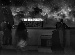 To Telescope (TranquilCacophony) Tags: art streetstyle streetphotography people monochrome stargazing milkyway heavens stars astronomy blackandwhite bnw tranquilcacophony