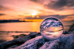 Lensball (Richard Larssen) Tags: richard richardlarssen rogaland larssen lensball sony scandinavia snow glass ball crystal orb sunset a7
