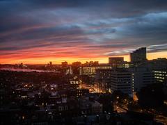 Sunday Sunset (iMatthew) Tags: sunset fromwindowatwork colors dramaticsunset boston charlesriver longfellowbridge cambridgema beaconhill