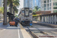 A Surfliners Cleaning (FranksRails Photography, LLC.) Tags: sandiego sandiegometropolitantransitsystem mts lrv trolley sdt sandiegotrolley arizonacalifornia carrizogorgerailroad pcc u2 siemensu2 siemenssd100 f59phi pacificsurfliner amtrakcalifornia streetfoodmarket ships boats ussmidway franksrailsphotographyllc railroad train rail lightrail coaster nctd amtraksurfliner emd ge siemens sandiegomts breeze newflyer