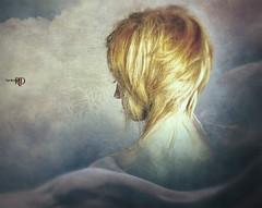 When You Left (Spoken in Red) Tags: emotiveportrait fantasyportrait ethereal feminine dreamy soft delicate woman clouds sky flowing movement shorthair shoulders spokeninred