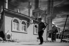 Mosque in Shutka (Max Sturgeon) Tags: mosque shutka skopje macedonia bw tiltshift monochrome blackandwhite travel travelphotography street streetphotography