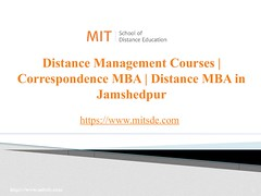 Distance Management Courses   Correspondence MBA   Distance MBA in Jamshedpur (mitsdeonlineeducation) Tags: mitsde distance management courses correspondence mba jamshedpur education