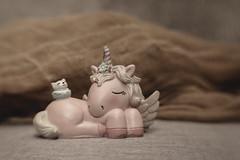 Sleeping Unicorn figurine (N.the.Kudzu) Tags: tabletop stilllife resin figurine unicorn cheese cloth canondslr lensbabysol45 lightroom