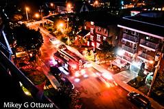 False Alarm - Ottawa 09 18 (Mikey G Ottawa) Tags: mikeygottawa canada ontario ottawa street city night nightshot iso800 800iso firetruck blur motionblur ottawapolice tripod tripodshot