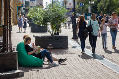 Nizhny Novgorod, Russia (Oleg.A) Tags: design autumn sunny colorful city nizhnynovgorod square street people architecture style outdoor exterior midday town russia noon outdoors