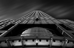 Menacing (TS446Photo) Tags: architecture building fineart mono black white longexposure lookupgermany business district camera security