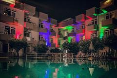 Caner (Melissa Maples) Tags: kemer turkey türkiye asia 土耳其 apple iphone iphonex cameraphone autumn caner hotel balconies swimmingpool pool water lights night evening
