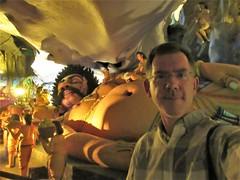 Paul with Kumbhakarna, sleeping giant statue in Ramayana Cave, Batu Caves, Malaysia (Paul McClure DC) Tags: batucaves malaysia selangor kualalumpur aug2018 gombak paulmcclure architecture sculpture hinduism geology