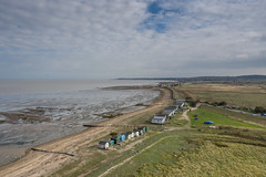 I am with drone and Hasselblad. (stocks photography.) Tags: whitstable england unitedkingdom gb michaelmarsh seascape beachhuts coast hasselblad drone photography photographer mavicpro2 fence bay