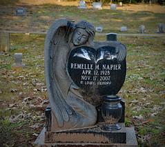 Remelle M. Napier (BKHagar *Kim*) Tags: bkhagar cemetery graveyard grave monument tombstone gravestone headstone marker angel heart black florence al alabama florencecitycemetery