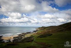 mortehoe north devon uk (kapper22) Tags: mortehoe north devon uk outdoor beach cove sand sky clouds blue white grass green coast tide water sea rocks seaside landscape