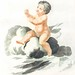 A naked child by Johan Teyler (1648-1709). Original from the Rijks Museum. Digitally enhanced by rawpixel.