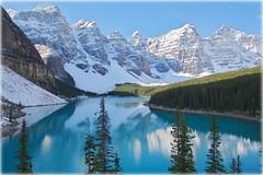 Big blue (L. Moraine, Canada) (armxesde) Tags: pentax ricoh k3 canada kanada alberta rockymountains banff banffnationalpark berg mountain schnee snow wasser water see lake reflection spiegelung tree baum lakemoraine morainelake moränensee blue blau turquoise türkis