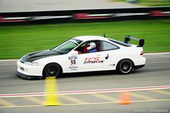 DSC04992 (S. M. Thompson) Tags: car racecar motion panning racing blur motorsport timeattack timetrial acura honda integra typer