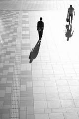 Shadow and Me (Wilson Au | 一期一会) Tags: miyagi japan sendai fujifilm xe2 xf1855mmf284rlmois fujinon monochrome street backlight morning blackandwhite pedestrian light urban