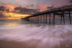 Avon Pier, Sunrise (Del.Higgins) Tags: obx outerbanks north carolina strong hurricane sunrise pier avon rodanthe hatteras island national seashore capehatteras