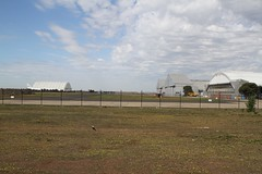 Looking down the taxiway between the hangars at Avalon Airport (Marcus Wong from Geelong) Tags: airport aviation avalon lara avalonairport victoria australia