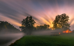 Evening (kaising_fung) Tags: river fog mist flowing light