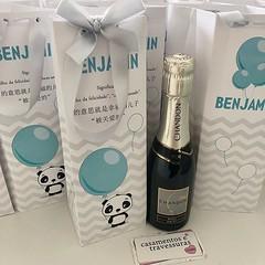 🐼 a Mamãe do Benjamin não vê a hora de tê-lo aqui 💙 📍sacolinha personalizada para Baby Chandon 📍tema panda 🐼 com balão 🎈 🎁loja infantil bebesetravessuras.com #bebesetravessuras #mae (casamentosetravessuras) Tags: instagram facebookpost lembrancinhas personalizadas