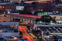 10th street ramps (pbo31) Tags: bayarea california nikon d810 color fall october 2018 boury pbo31 sanfrancisco city urban fox plaza lightstream civiccenter roadway traffic siemer motion night over red overpass centralfreeway soma 10th rushhour