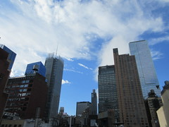 2018 October Cloud Strewn Sky NYC 2362 (Brechtbug) Tags: 2018 october cloud strewn sky nyc virtual clock tower from hells kitchen clinton near times square broadway new york city midtown manhattan 10112018 stormy weather building no hanging cumulonimbus blue cumulus nimbus fall hell s nemo southern view ny1