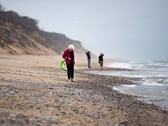 The shell collector. (PJD-DigiPic) Tags: pjddigipic beach sand ocean stones water dunes nausetlightbeach capecodmassachusetts
