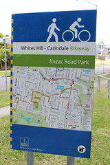 Brisbane City Council bicycle wayfinding sign, Carina Heights (philip.mallis) Tags: brisbane sign bicyclesign carinaheights