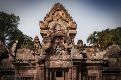 View of the Main Area of Banteay Srei Temple, Angkor, Cambodia-25a