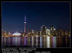 Night view of downtown Toronto, Ontario, Canada (__Viledevil__) Tags: canada ontario architecture building business canadian city cityscape district downtown harbor high lake landmark landscape metropolis modern reflection sky skyline skyscraper stadium toronto tower urban view water waterfront canadá ca