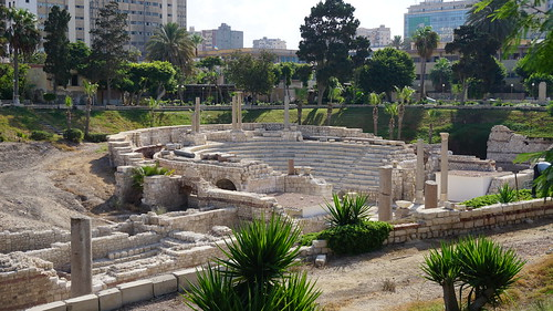 The Roman Amphitheater of Alexandria in the Kom al-Dikka Complex, Alexandria.