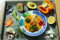 Суп с фрикадельками QJ4A0854 (info@oxumoron.com) Tags: suppe soups супы авокадо avocado avokado apple apfel яблоко knoblauch garlic чеснок pfeffer peper перец karotte carrot морковь zitrone lemon лемон vegetables gemüse овощи