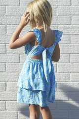 SS181001B TIE BACK DRESS - Bloom (2) (ZacaluZoo) Tags: miilovemu kids fashion boho children
