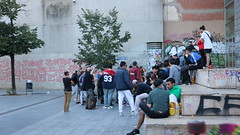 just kids being teens (paigeromero) Tags: teenangers kids rap battle barcelona spain macba
