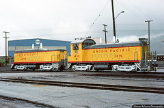 Fresh from the Paint Booth (jamesbelmont) Tags: unionpacific emd tr5 cowcalf provo utah railroad railway train transfer