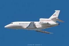 Grey Falcon Falcon 900EX N711T (José M. Deza) Tags: 20181024 bcn dassault elprat falcon900ex greyfalcon lebl n711t planespotting spotter aircraft